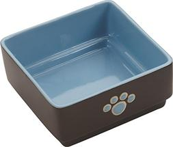 Ethical Pet Products  DSO6932 Stoneware 4-Square Dog Dish, 5
