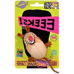 Bamboo Pet Eeeks! Kitty Hoots Original Mouse Cat Toy