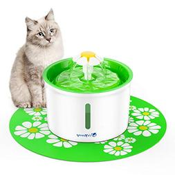 Pet Flower Fountain Automatic Water Dispenser for Dogs & Cat