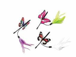 Ethical Pet Products  Fluttering Butterfly Mini Teaser Wand,