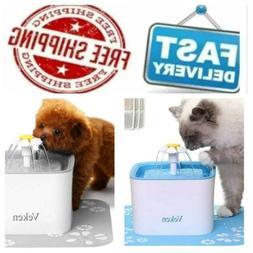 Veken Pet Fountain, 84Oz/2.5L Automatic Cat Water Fountain D