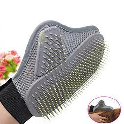 SUJING Pet Grooming Glove Brush Pet massage gloves Gentle Ma