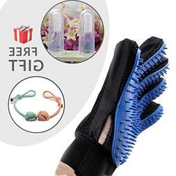 zimitec Pet Grooming Glove Set , Gentle Brush Glove, Efficie