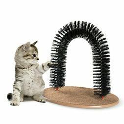 Pet Grooming Scratcher Brush Cat Rubbing Arch Shedding Hair
