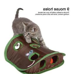 Pet Intelligence Toys Mice-shape Toy Bell Ball 9 Holes Cat P