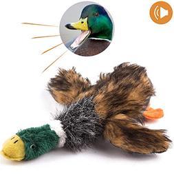 wangstar Pet Mallard Duck Dog Toy, Squeaky Dog Toy, Plush Pu