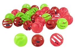 Pet Play Balls - 30-Pack Pound Chase Rattle Toys with Jingle