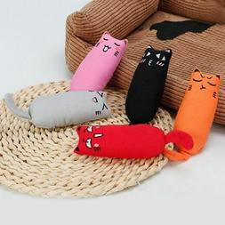 Pet Plush Catnip Durable Cat Shaped Pillow for Kitten Clean