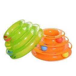 Pet Puppy Cat Toys Round Swivel Plate Cat Play Interactive T