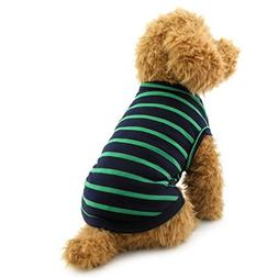 Pet Stripes Vest Summer T-Shirt Cotton Boys Male Doggy Cloth