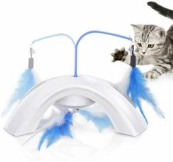 PAWABOO Feather Whirl Teaser Cat Toy Quadripod Electronic In