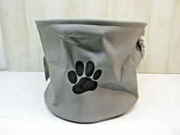 Bone Dry DII Small Round Pet Toy and Accessory Storage Bin,