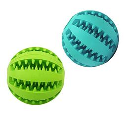 Smile Pet Toy Ball Dog Chew Durable Treat IQ Indestructible
