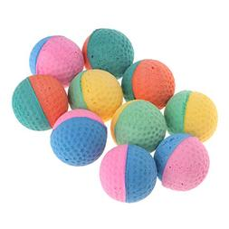 Forgun 10 Pcs Pet Toy Latex Balls Colorful Chew for Dogs Cat
