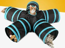 Folding Pet Cat Toy 5 Tunnels street Extensible Collapsible