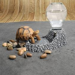Cibeat Pet Water Dispenser, Cute Pet Tortoise Water Bowl Pet