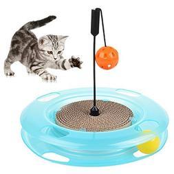 Petacc Cat Toys Cat Interactive Play Ramp Cat Intelligence T