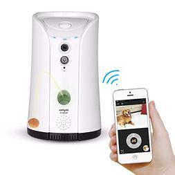 SKYMEE Dog Camera Treat Dispenser,WiFi Remote Pet Camera wit