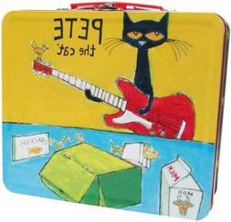 """Kids Preferred Pete The Cat Retro Tin Lunch Box, 8"""""""