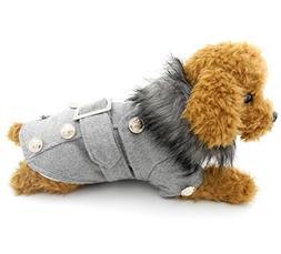 PETLOVE Small Dog Clothing for Girls Boys European Style Woo