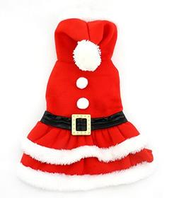 PETLOVE Small Dog Clothes for Winter Christmas Clothes Pleat