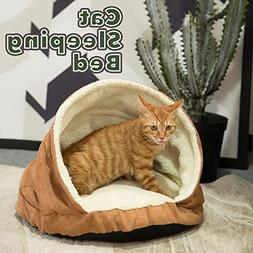 Allisandro Pets Bed Round Burrow Cat Bed Soft Fleece Cat Sle