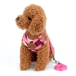 smalllee_lucky_store Pink Camo Camouflage Small Dog Cat Harn