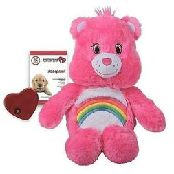 NEW Pink Care Bear Calming Snuggle Puppy For Puppies Beating