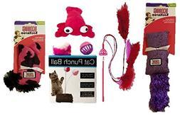 Pink & Purple Cat Toy Bundle |  Cat Starter Kit Includes Toy