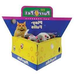 "Penn Plax Play-Fulls Cat Toys Fun 2"" Fur Mice in Cute Cheese"