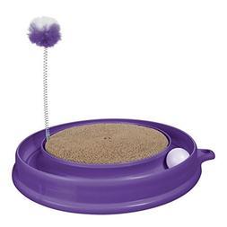 Catit Play 'n Scratch Cat Toy, Purple