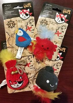 Catit Play Set of 2 Assorted CAT TOYS Pirate-themed CAT NIP
