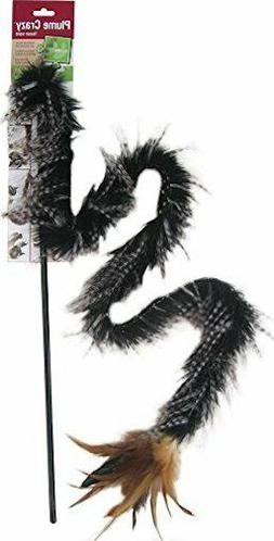 PETLINKS PLUME CRAZY WAND TEASER FUR & FEATHER TOY FOR CATS.