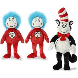 """Aurora Plush Bundle of 3, 20"""" Cat in the Hat, and 12"""" Thing"""