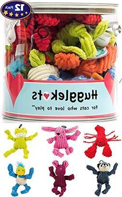 Plush Cat Toys With Catnip 12 Pack: Mini Animals. Each Bucke