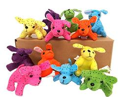 Dondor Plush Neon Dogs, Cute & Cuddly Plush Party Favors  By