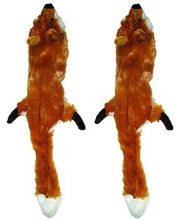 Ethical Pet Plush Skinneeez Fox 14-Inch Stuffingless Dog and
