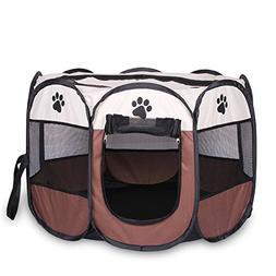 Feroni HOT Portable Folding Pet tent Dog House Cage Dog Cat
