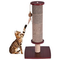 TANGKULA Cat Scratching Post Activity Tree Cat Scratcher wit
