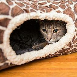 Easyology Premium Cat Tunnel - Interactive Cat Tube Toy with