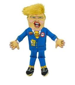 Fuzzu Presidential Parody Small Dog Toy - With Squeaker Dona