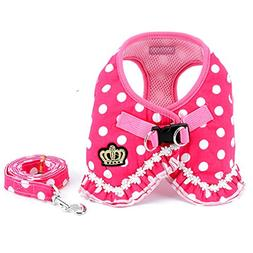 smalllee_lucky_store No Pull Polka Dot Small Dog Puppy Cat H