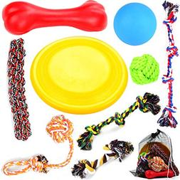 Large Puppy Dog Chew Toys 10 Value Pack , for Medium and Lar