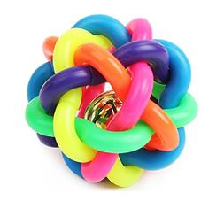 AsyPets Puppy Dog Toy Colorful Bouncy Rubber Balls with Bell