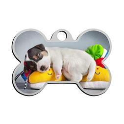 Puppy Sleep On The Toy Pet ID Tags Dog Tag Cat Zinc Alloy Ro
