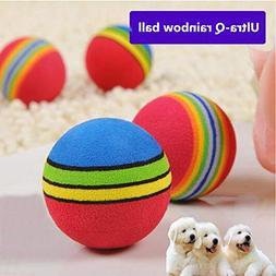 Rainbow Ball Pet Dog Cat Puppy Chew Toys Durable Bite Balls