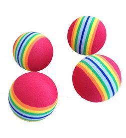 PET SHOW Rainbow Cat Toys Balls Soft EVA Foam Balls Interact