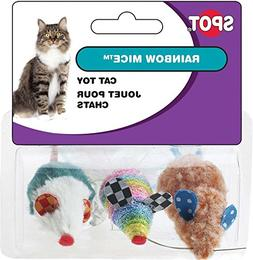 Ethical Rainbow Mice Cat Toy, 3-Pack