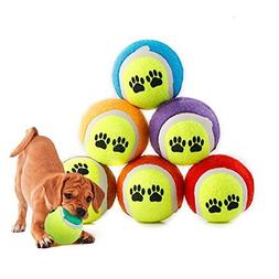 FinerMe Color Random 3-Pack/6-Pack Durable Dog Toys Balls Te