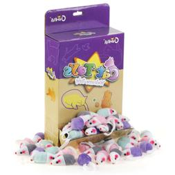"Chiwava 36PCS 1.8"" Small Rattle Cat Toys Mice Cute Double Co"